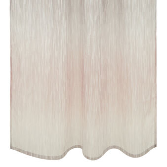 Curtain with hidden loops and dévoré design