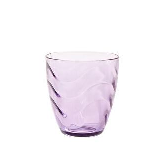Bicchiere vetro lilla