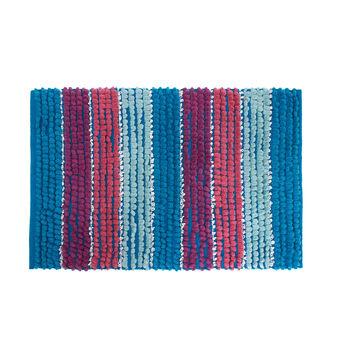 Tappeto bagno cotone righe colorate