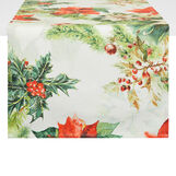100% European cotton table runner with Christmas print