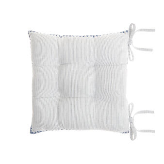 100% yarn-dyed cotton seat pad with stripes