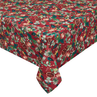 100% cotton Panama tablecloth with pomegranate print