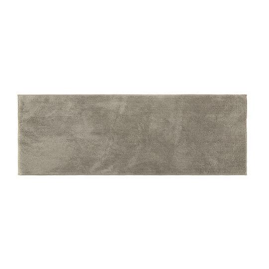 Shaggy solid colour bath mat