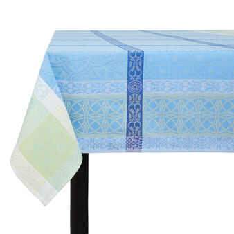 Tablecloth in 100% cotton with jacquard design