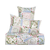 Patchwork duvet cover in 100% cotton percale