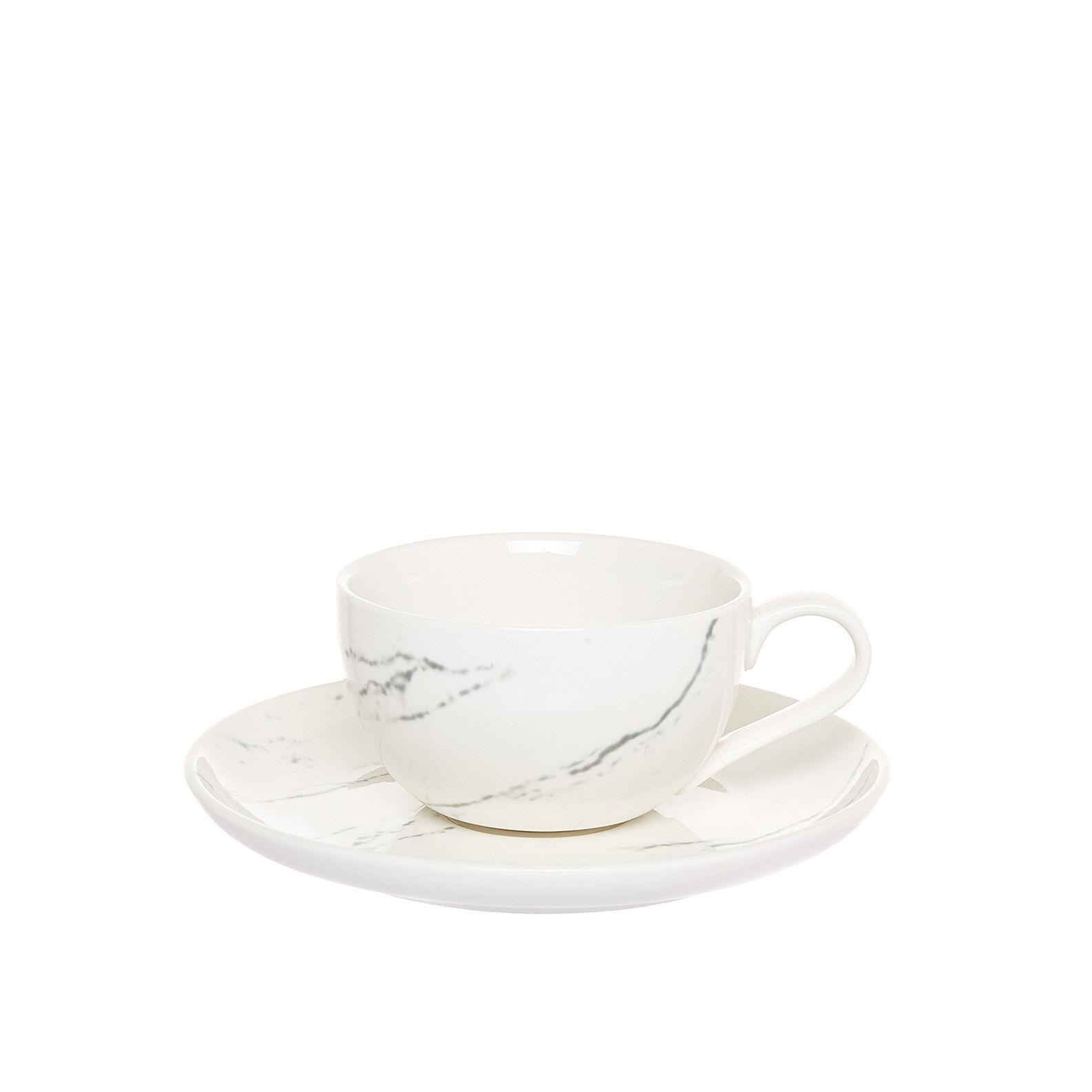 Tazze tè porcellana effetto marmo