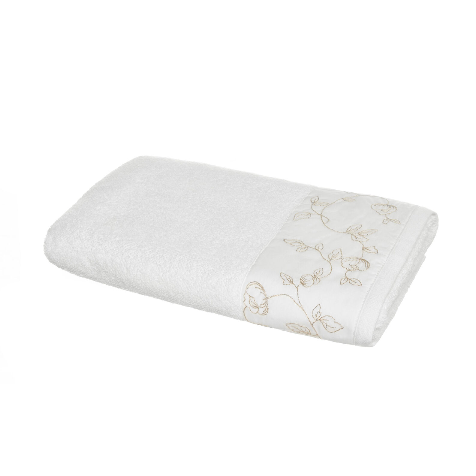 Portofino 100% cotton towel with percale edging