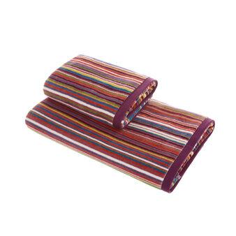 100% cotton velour striped towel