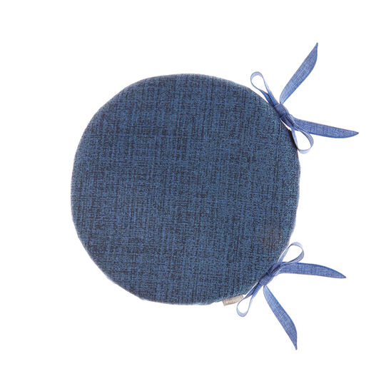 Round seat pad in solid colour cotton