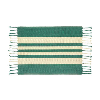100% cotton table mat with wide stripes