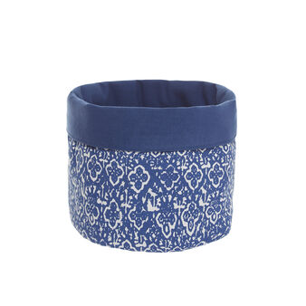 100% cotton basket with ornamental print
