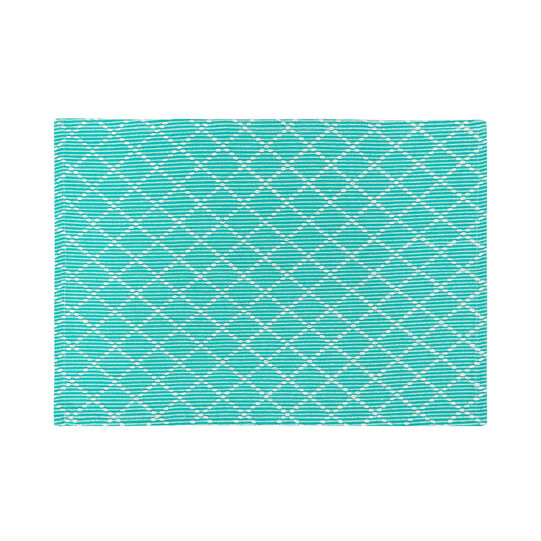 100% cotton table mat with diamonds
