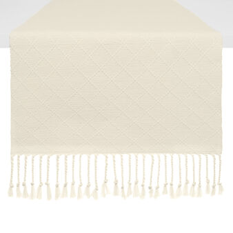 100% cotton table runner with diamond embroidery