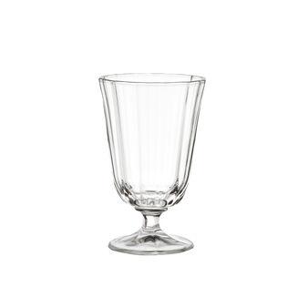 Glass wine goblet