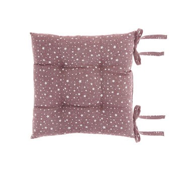 Seat pad in 100% cotton with star print