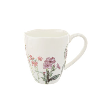 Mug in new bone China with floral decoration