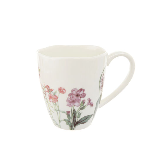 Mug in new bone china decoro floreale