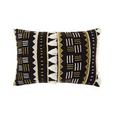 Cushion with afro style applications 35x50cm