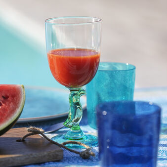 Plastic goblet with parrot detail