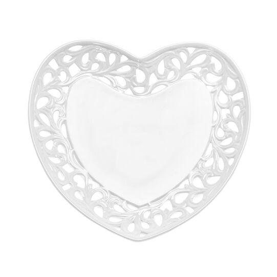 Piatto in ceramica a forma di cuore