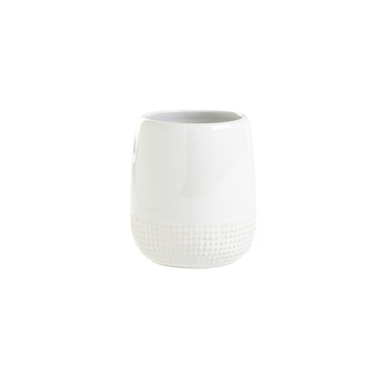 Dots ceramic toothbrush holder