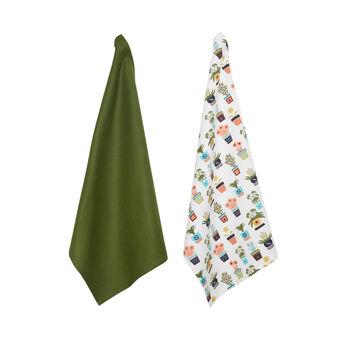 Set of 2 cotton twill tea towels