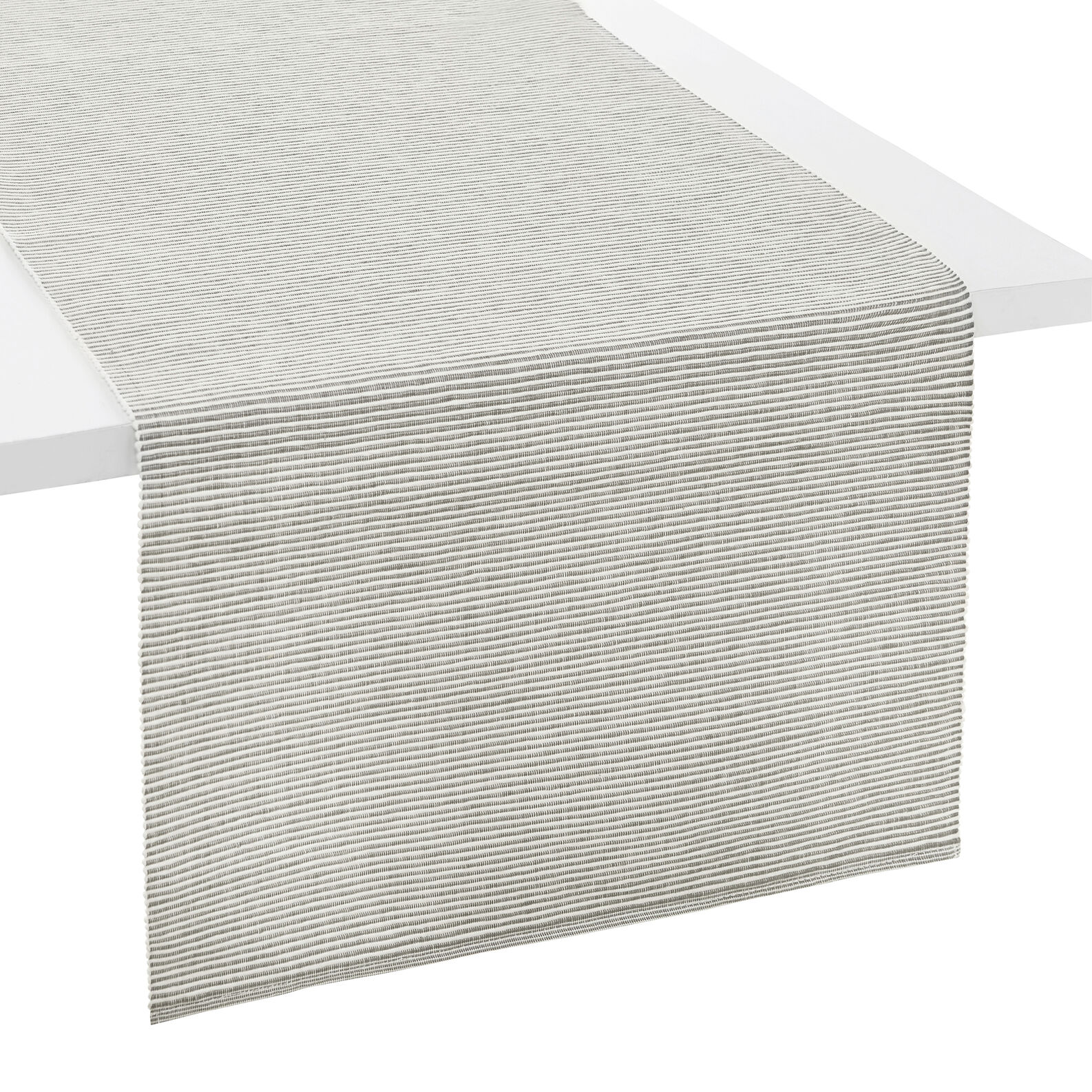 Striped and ribbed cotton table runner