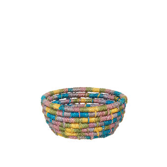Abaca basket with low edges
