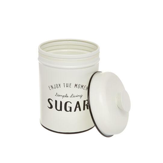 Enamelled iron Sugar tin