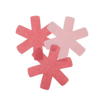 Set of 3 star-shaped pan protectors