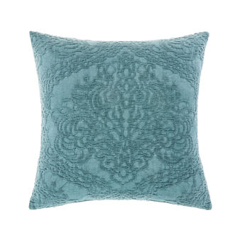 Solid colour cotton piquet cushion