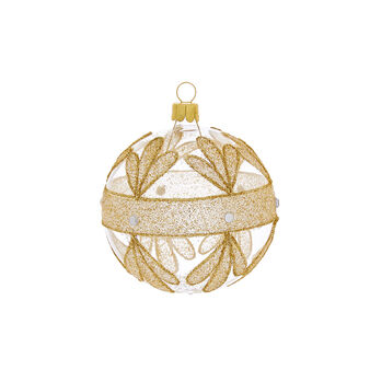 Hand-blown and decorated glass bauble made by European artisans