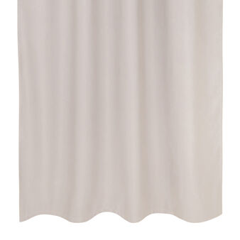 Soft curtain with hidden tabs