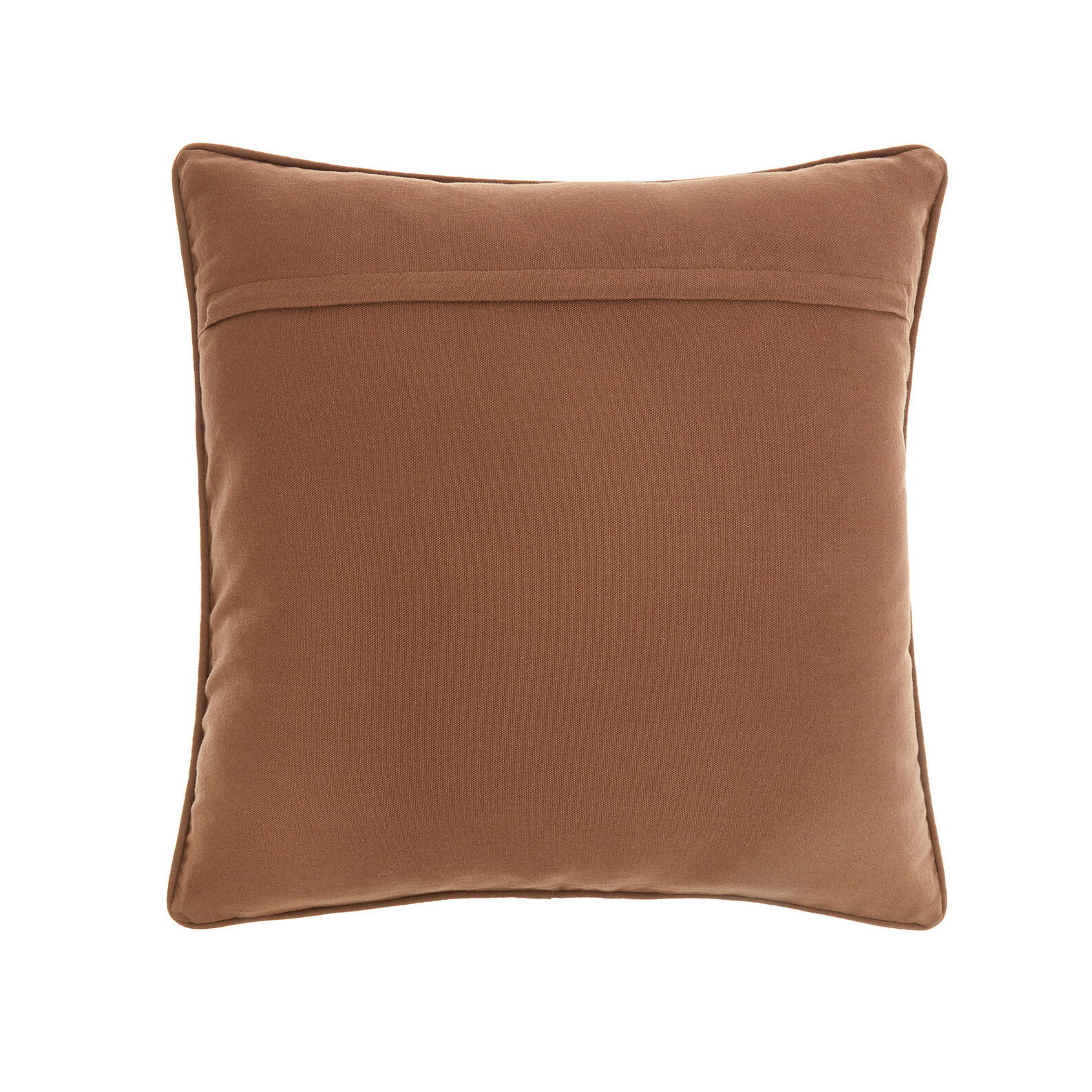 Cotton velvet cushion with quilted effect (45x45cm)