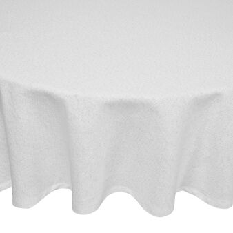 Oval tablecloth in 100% cotton with lurex
