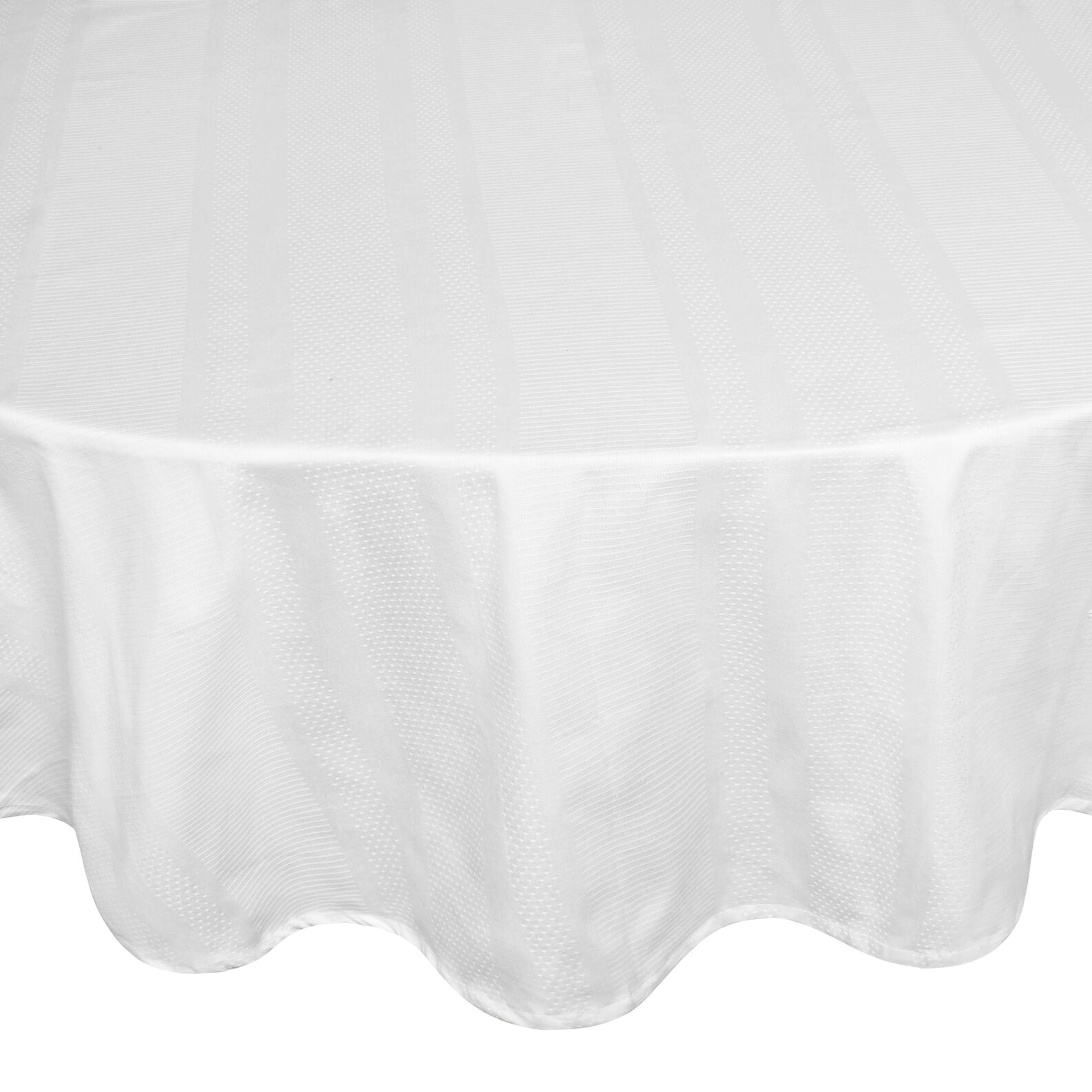 Zefiro oval tablecloth in 100% Egyptian cotton jacquard