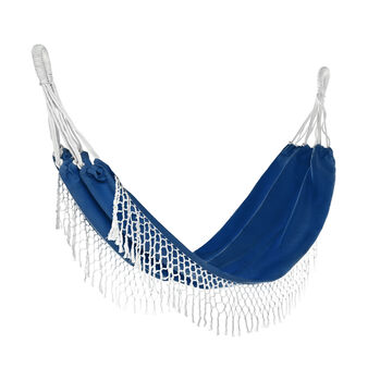 Cotton hammock with fringe