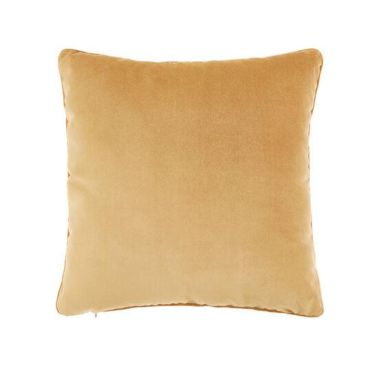 Solid color velvet cushion