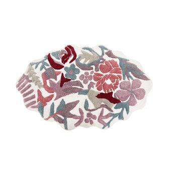 Tappeto bagno cotone sagomato a fiori