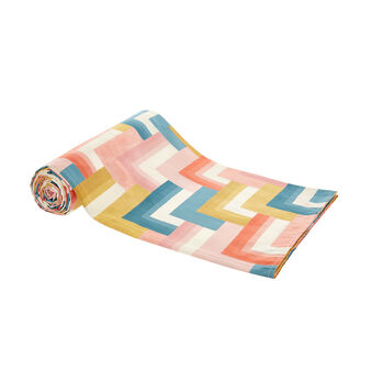100% cotton throw with geometric print
