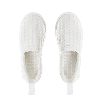 Pure cotton waffle weave slipper