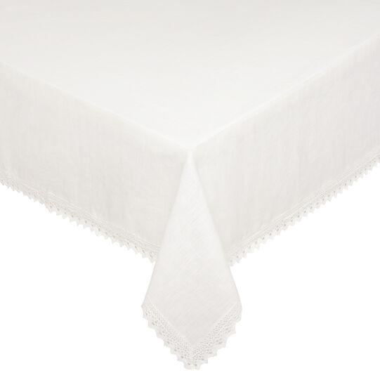 100% linen napkins with lace trim