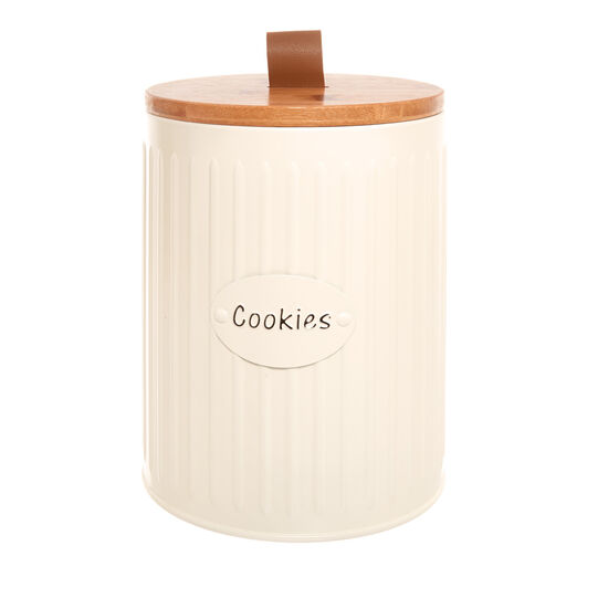 Enamelled metal Cookies tin