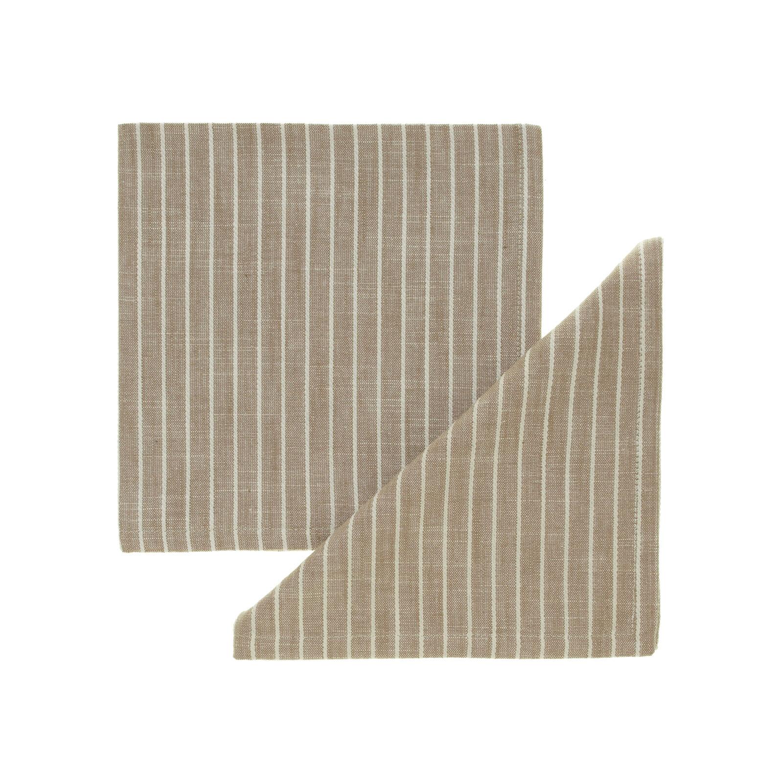 Pair of striped cotton napkins