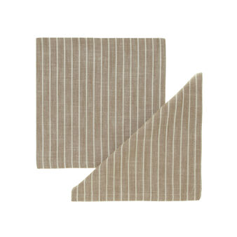 Pair of striped cotton napkins