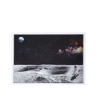 Astronaut photo print painting