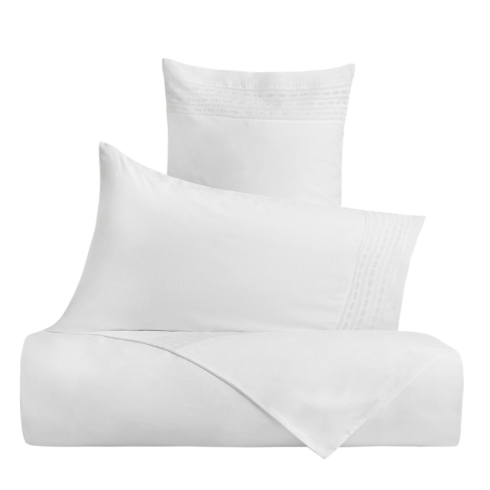 Portofino pillowcase in 100% cotton with embroidered trim