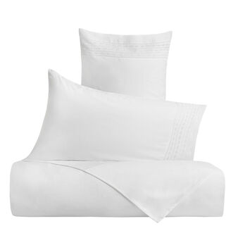 Portofino 100% cotton duvet cover with embroidered trim