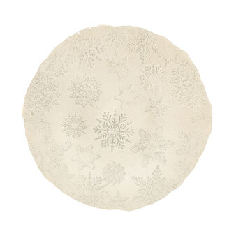 Serving dish with snowflakes decoration