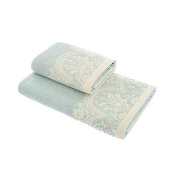 Set 2 asciugamani puro cotone jacquard
